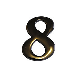 Nickel Effect Metal 60mm House Number 8