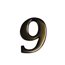 Nickel Effect Metal 60mm House Number 9