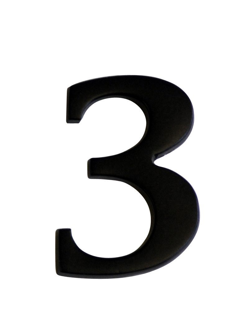 Iron Effect Metal 60mm House Number 3