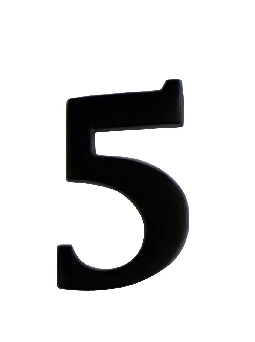 Iron Effect Metal 60mm House Number 5