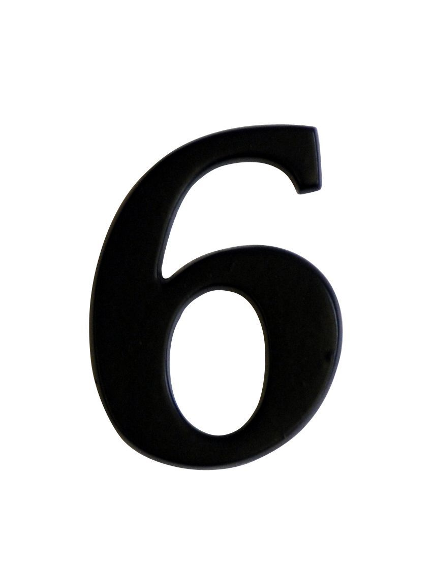 Iron Effect Metal 60mm House Number 6