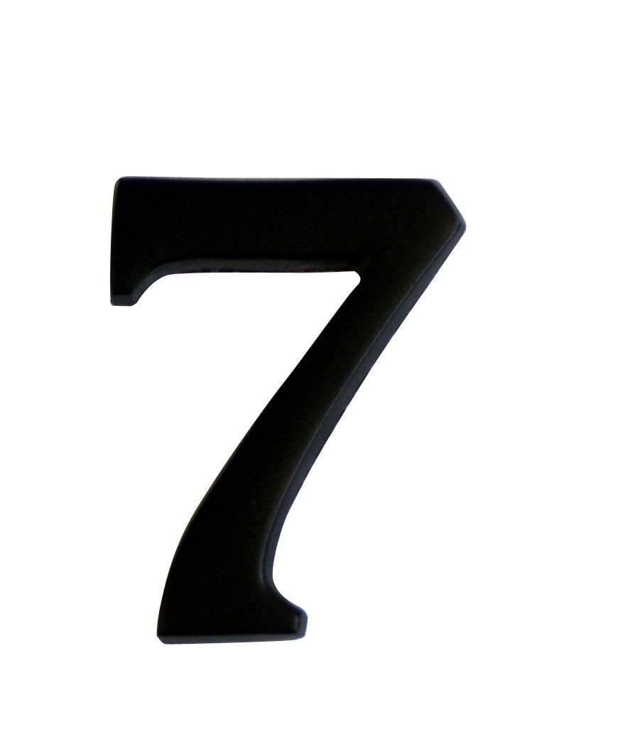 Iron Effect Metal 60mm House Number 7