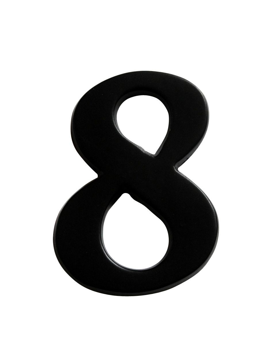 Iron Effect Metal 60mm House Number 8