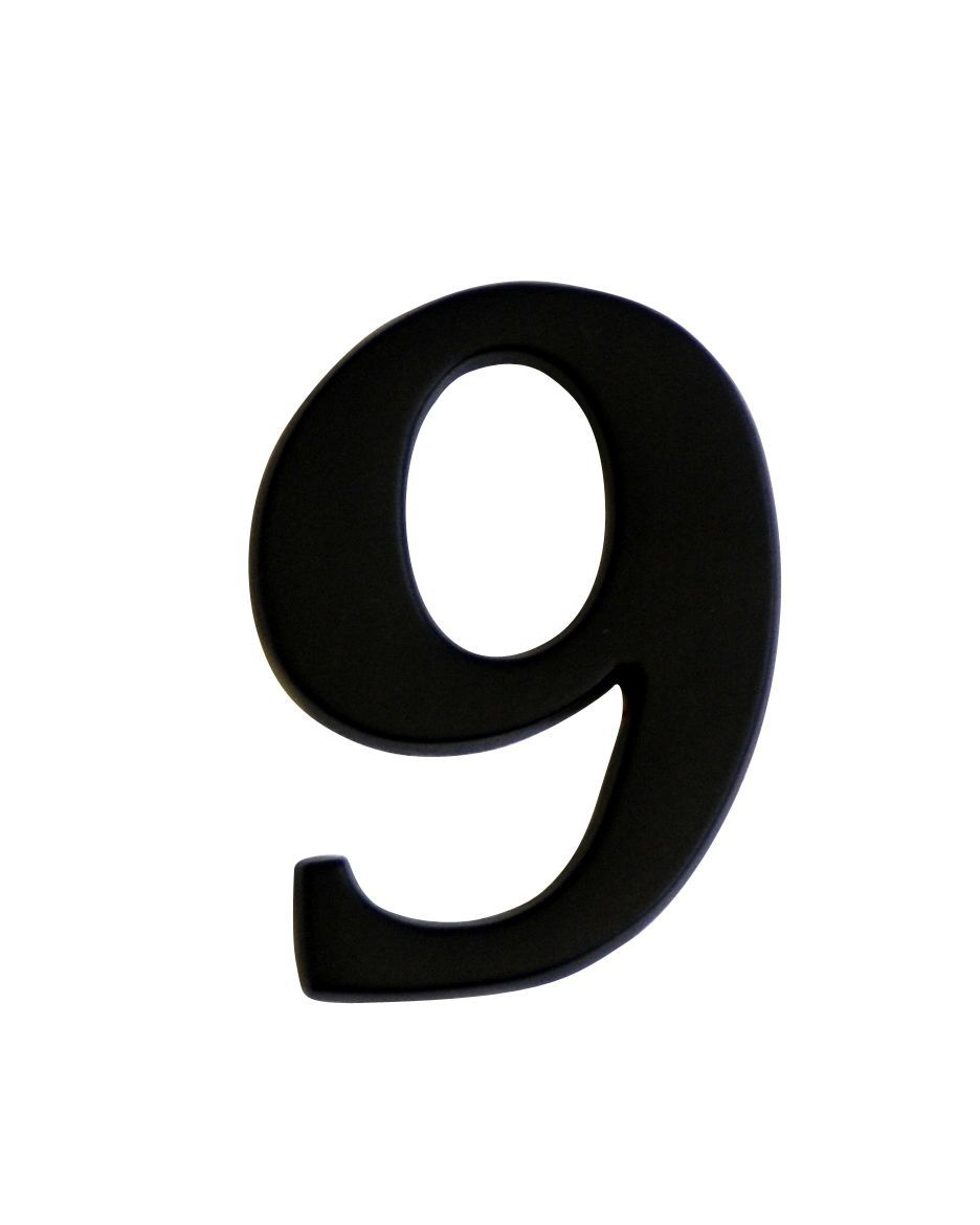 Iron Effect Metal 60mm House Number 9
