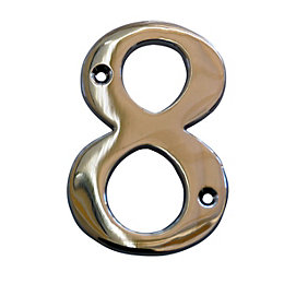 Chrome 102mm House Number 8