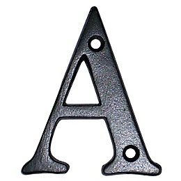 Black Brass House Letter A