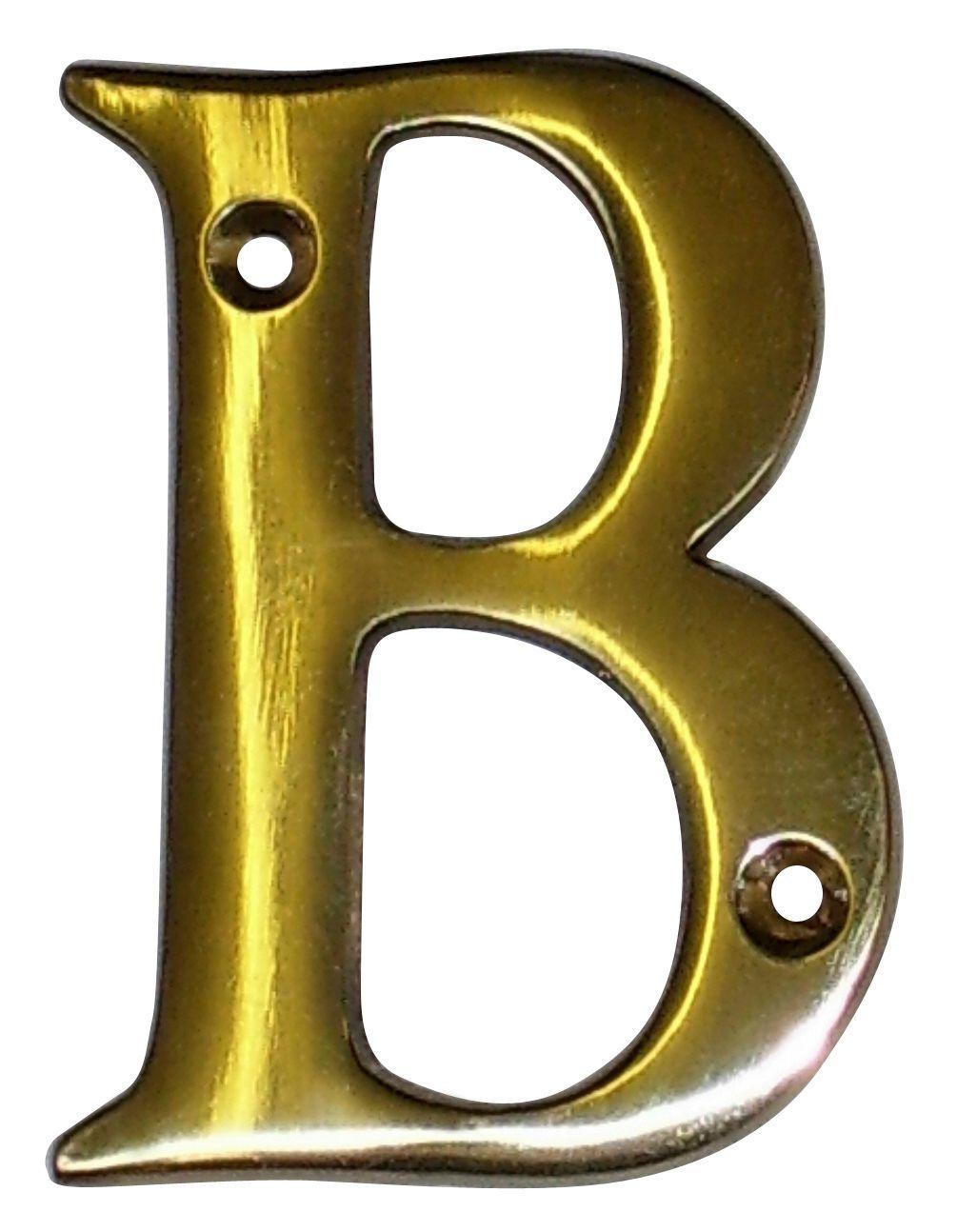 Brass 100mm House Letter B