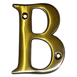 Brass 100mm House Letter B