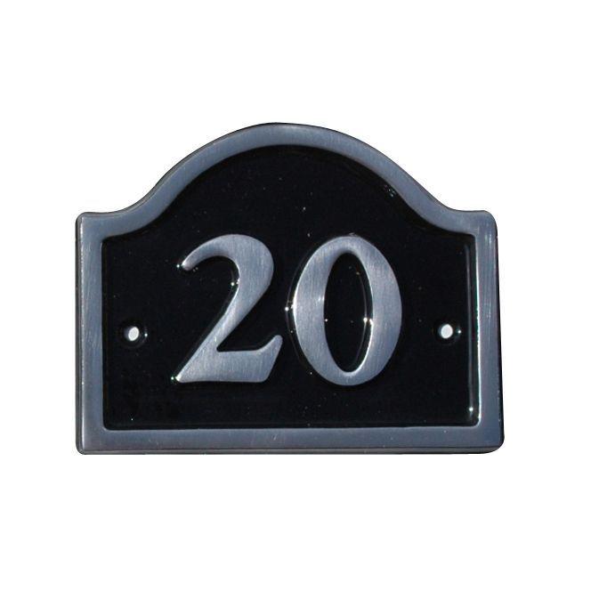 Black Aluminium House Plate Number 20