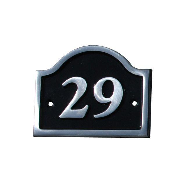 Black Aluminium House Plate Number 29