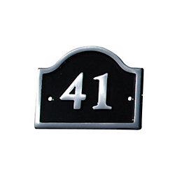 Black Aluminium House Plate Number 41