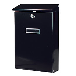 The House Nameplate Company Black Letterbox (H)320mm (W)205mm