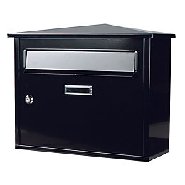 The House Nameplate Company Black Letterbox (H)330mm (W)400mm