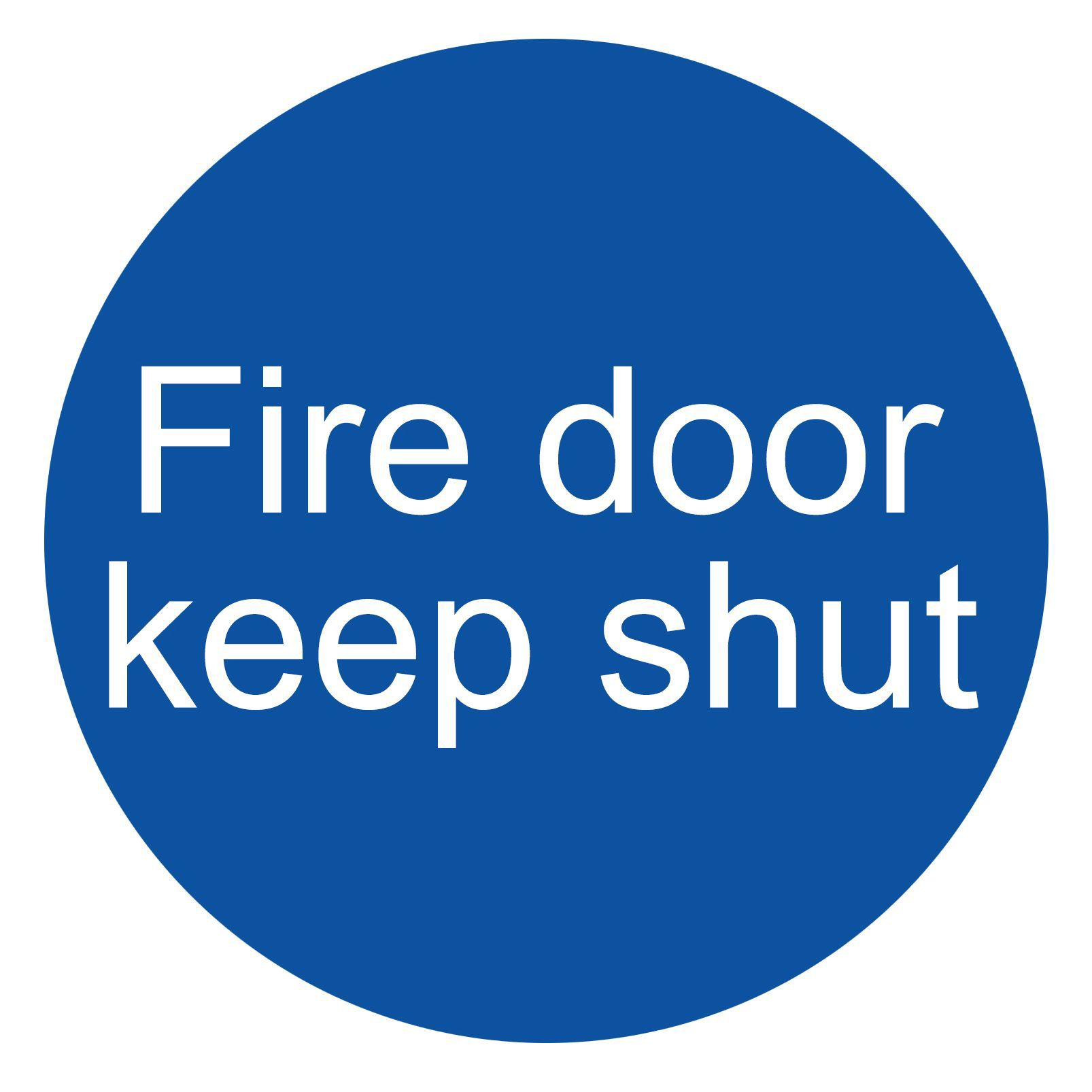 The House Nameplate Company Pvc Self Adhesive Fire Door Keep Shut Sign (h)100mm (w)100mm