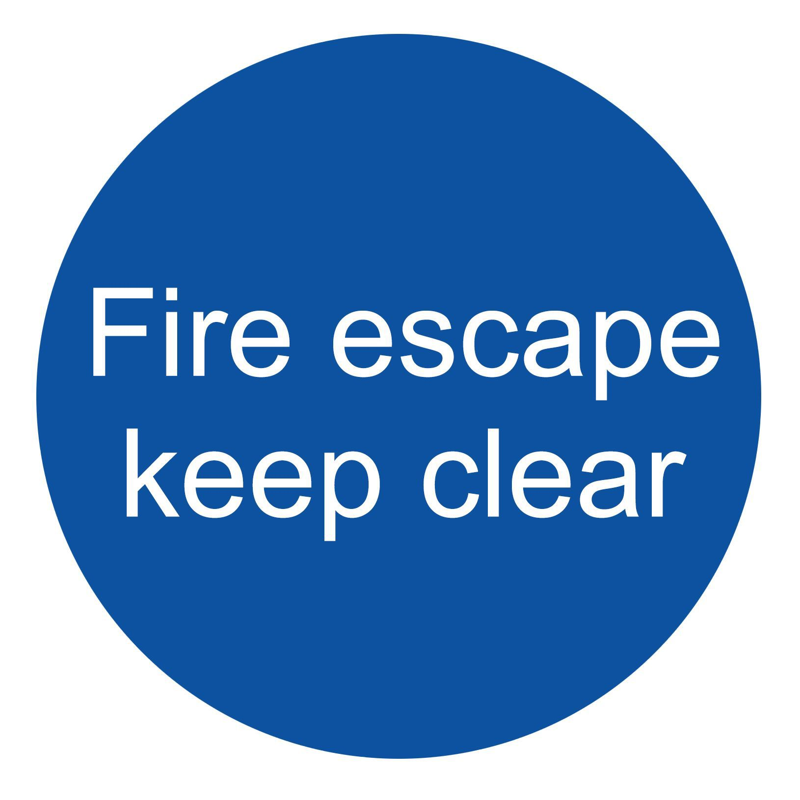 The House Nameplate Company Pvc Self Adhesive Fire Escape Keep Clear Sign (h)100mm (w)100mm