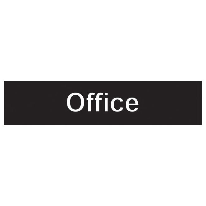 The House Nameplate Company Pvc Self Adhesive Office Sign (h)50mm (w)200mm