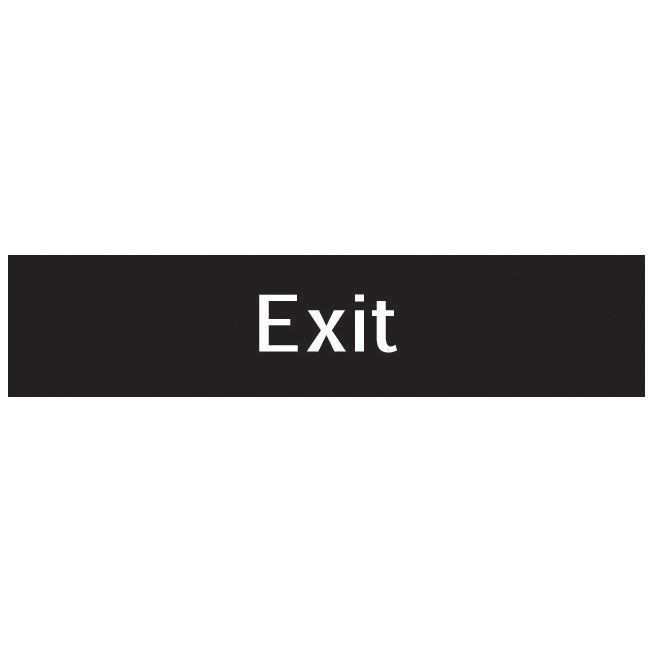 The House Nameplate Company Pvc Self Adhesive Exit Sign (h)50mm (w)200mm