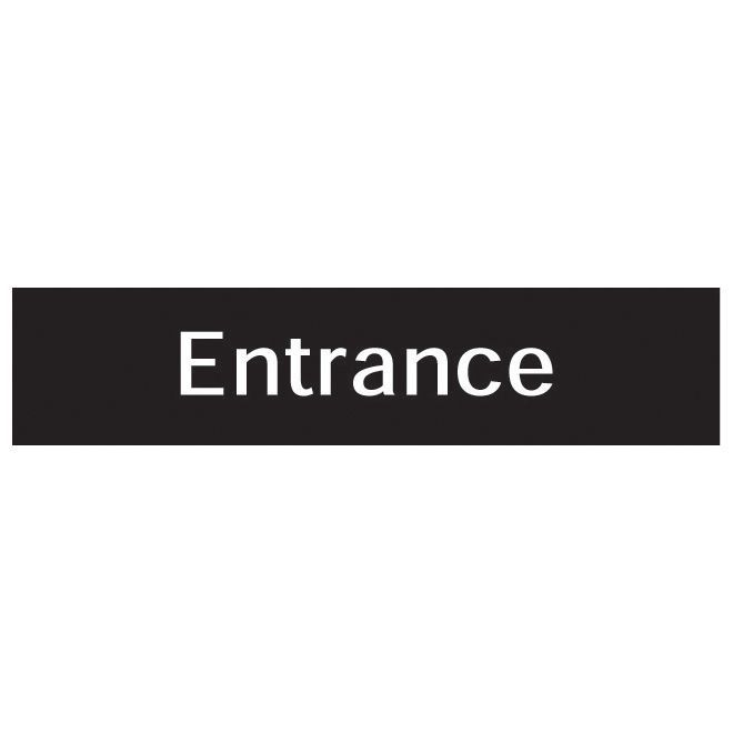 The House Nameplate Company Pvc Self Adhesive Entrance Sign (h)50mm (w)225mm