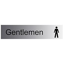 The House Nameplate Company PVC Self Adhesive Gentlemen