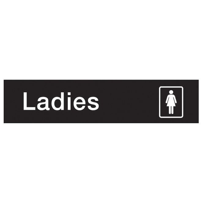 The House Nameplate Company Pvc Self Adhesive Ladies Sign (h)50mm (w)200mm