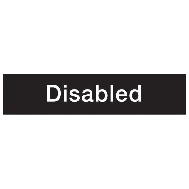 The House Nameplate Company Pvc Self Adhesive Disabled Sign (h)50mm (w)200mm