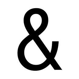 The House Nameplate Company PVCu Self Adhesive Ampersand