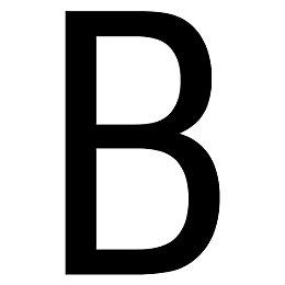 Black PVCu Die Cut House Letter B