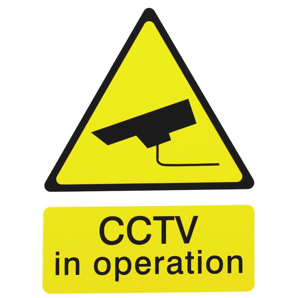 The House Nameplate Company Pvc Self Adhesive Cctv In Operation Sign (h)200mm (w)150mm
