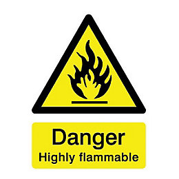 The House Nameplate Company PVC Self Adhesive Danger
