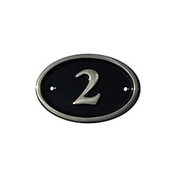 Black Brass House Plate Number 2