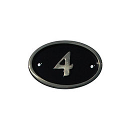 Black Brass House Plate Number 4