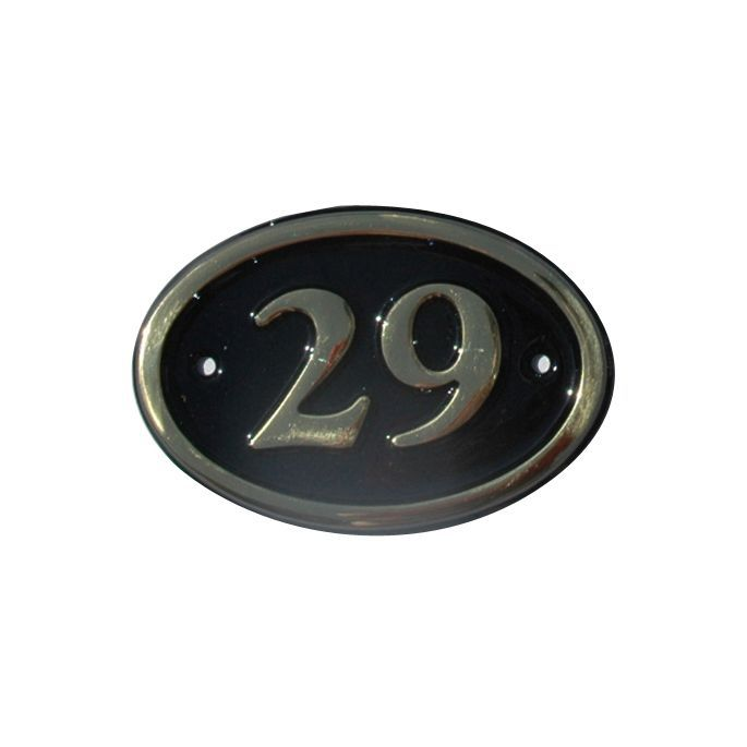Black Brass 120mm House Plate Number 29 Departments