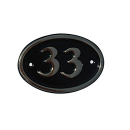 Black Brass House Plate Number 33