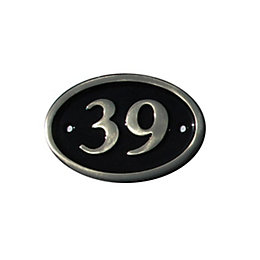 Black Brass House Plate Number 39
