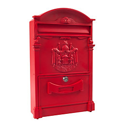 The House Nameplate Company Imperial Red Letterbox (H)420mm