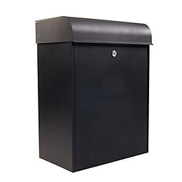 The House Nameplate Company Parcel Black Letterbox (H)555mm