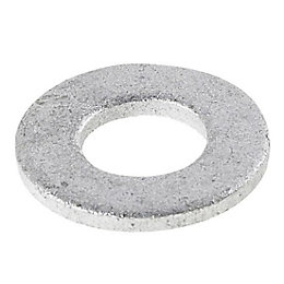 AVF M8 Galvanised Steel Flat Washer, Pack of