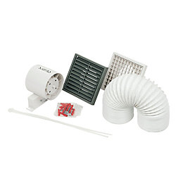 Manrose Sf100T/W In-Line Shower Fan Kit 99 mm