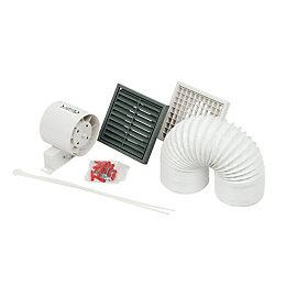 Manrose Sf100T/W In-Line Shower Fan Kit 99 mm