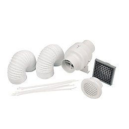Manrose 41379 In-Line Shower Fan Kit(D)100mm