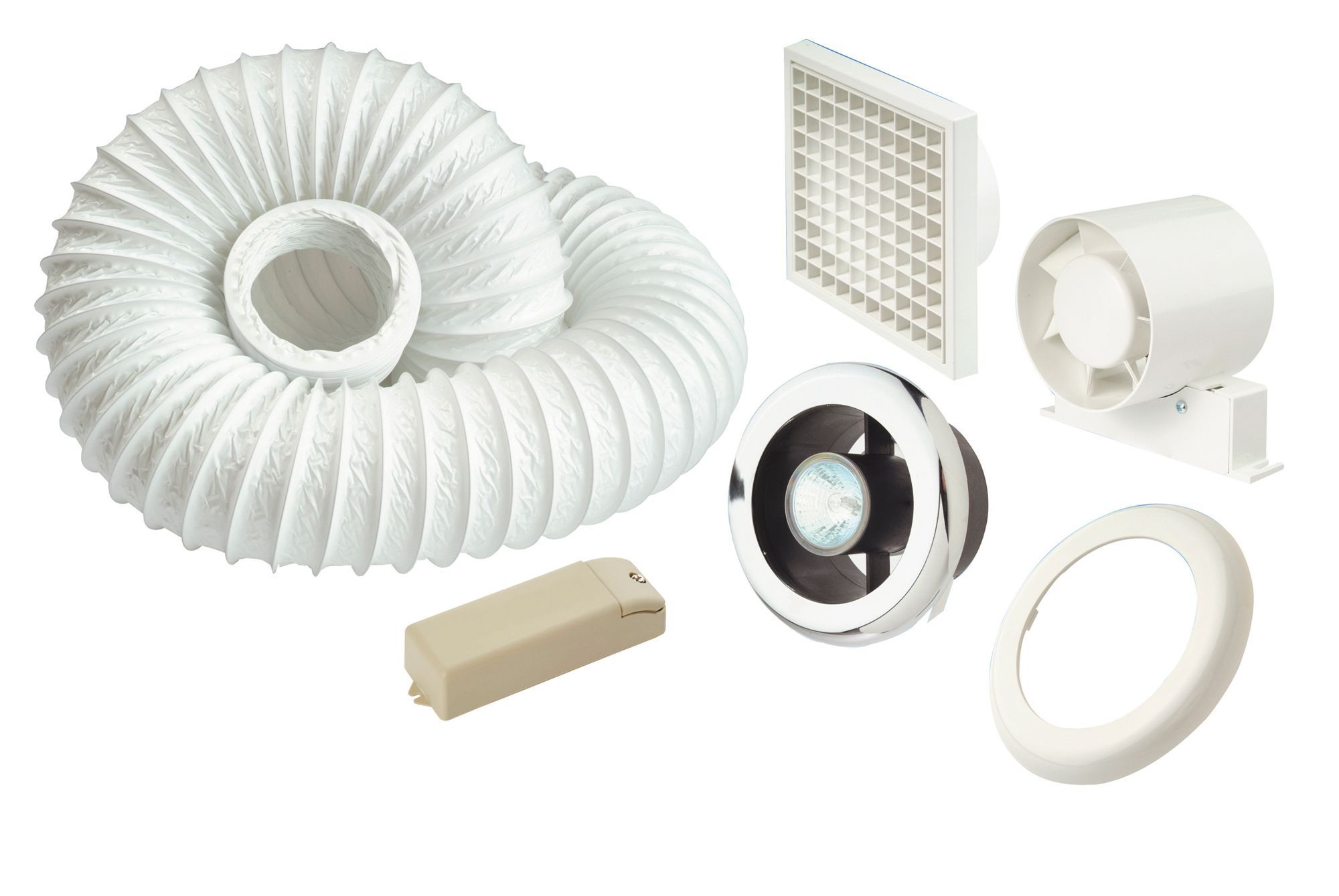 Bathroom extractor fans advice - Manrose White Shower Light Extractor Fan Kit Departments Diy At B Q