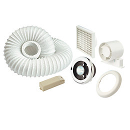 Manrose White Shower Light & Extractor Fan Kit