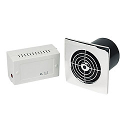 Manrose Lp100Slvc Low Voltage Bathroom Extractor Fan with