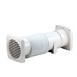 Manrose VDISF100S Bathroom Shower Fan Extractor Fan Kit(D)98mm