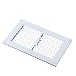 Manrose White Louvred Gas Vent (H)152mm (W)229mm