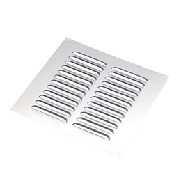 Manrose Silver Louvred Vent (H)229mm (W)229mm