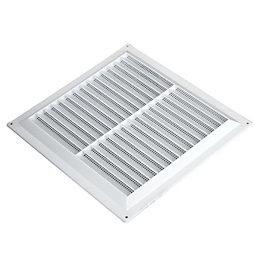 Manrose White Louvred Vent (H)229mm (W)229mm