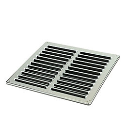 Manrose Silver Louvred Gas Vent (H)229mm (W)229mm