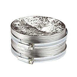 Manrose Silver Circular Flex, Pack of 2