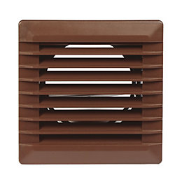 Manrose Brown External Louvred Vent (W)110mm